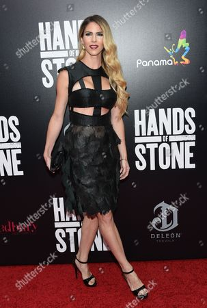"""Stock Photo of Claudine Jakubowicz attends the U.S. premiere of """"Hands of Stone"""" at the SVA Theatre, in New York"""
