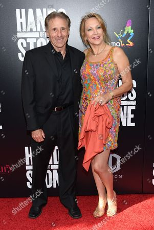 """Stock Photo of Actor Rick Avery and Donna Keegan Avery attend the U.S. premiere of """"Hands of Stone"""" at the SVA Theatre, in New York"""