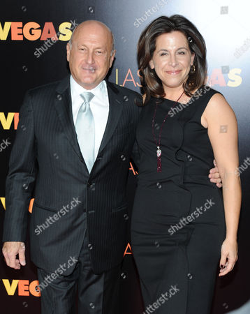 """Producers Laurence Mark and Amy Baer attend the premiere of """"Last Vegas"""" at the Ziegfeld Theatre on in New York"""