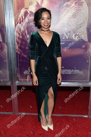 """Actress Terri Abney attends the premiere of """"Loving"""" at the Landmark Sunshine Cinema, in New York"""