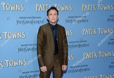 """Director Jake Schreier attends the premiere of """"Paper Towns"""" at AMC Loews Lincoln Square, in New York"""