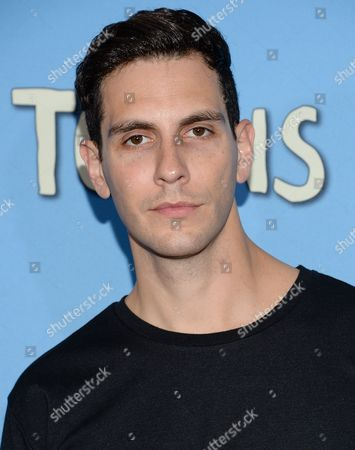 """Gabe Saporta attends the premiere of """"Paper Towns"""" at AMC Loews Lincoln Square, in New York"""