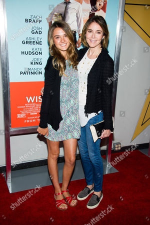 """Christa Miller and her daughter Charlotte Lawrence attend the premiere of """"Wish I Was Here"""" on in New York"""