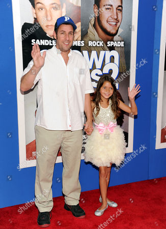 "Stock Image of Actor Adam Sandler and actress Alexys Nycole Sanchez attend the premiere of ""Grown Ups 2"" at the AMC Loews Lincoln Square on in New York"