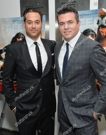 "Director Richard Raymond, left, Relativity Studios president Tucker Tooley attend a special screening of ""Desert Dancer"", hosted by The Cinema Society, at The Museum of Modern Art, in New York"