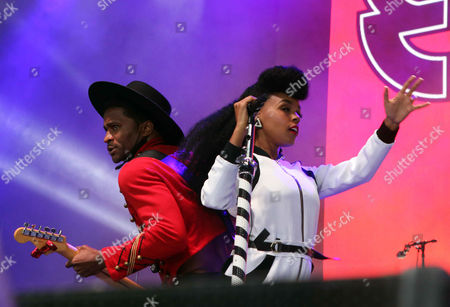 Janelle Monae and Roman GianArthur perform during ONE Musicfest 2015 at Aaron's Amphitheatre at Lakewood, in Atlanta