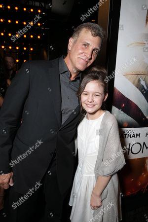 Director Gary Fleder and Izabela Vidovic seen at Open Road 'Homefront' Premiere, on in Las Vegas