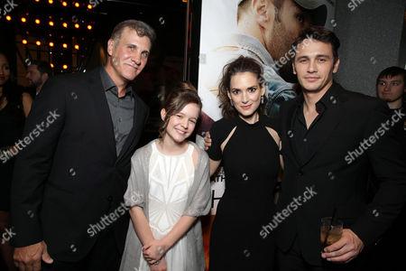 Director Gary Fleder, Izabela Vidovic, Winona Ryder and James Franco seen at Open Road 'Homefront' Premiere, on in Las Vegas