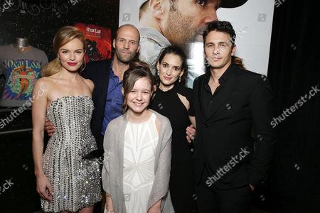 PREMIUM RATES APPLY Kate Bosworth, Jason Statham, Izabela Vidovic, Winona Ryder, James Franco and Director Gary Fleder seen at Open Road 'Homefront' Premiere, on in Las Vegas