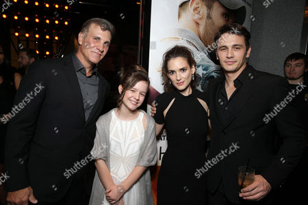 Stock Picture of Director Gary Fleder, Izabela Vidovic, Winona Ryder and James Franco seen at Open Road 'Homefront' Premiere, on in Las Vegas