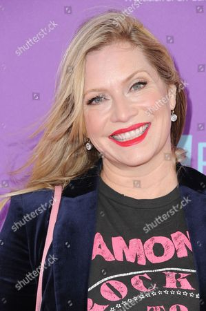 Emily Procter attends P.S. ARTS Express Yourself 2015 held at Barker Hangar, in Santa Monica, Calif