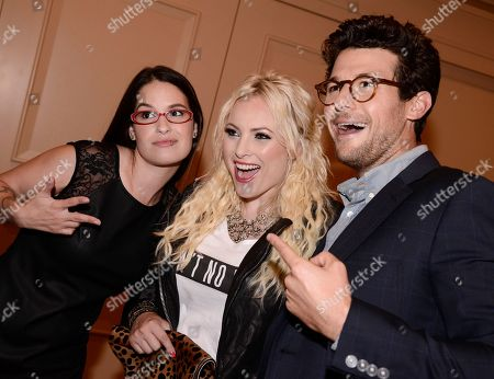 TakePart Live host Jacob Soboroff, right, Raising McCain host Meghan McCain, center, and TakePart Live host Cara Santa Maria at Pivot's debut panel during the summer TCA at the Beverly Hilton Hotel on in Beverly Hills, Calif. Pivot presents it's network and series launch starting August 1, 2013