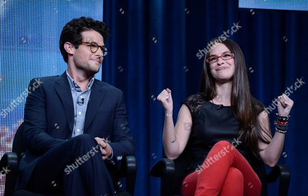 TakePart Live hosts Cara Santa Maria, right, and Jacob Soboroff at Pivot's debut panel during the summer TCA at the Beverly Hilton Hotel on in Beverly Hills, Calif. Pivot presents it's network and series launch starting August 1, 2013