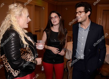TakePart Live hosts Jacob Soboroff, right, Cara Santa Maria, center, and Raising McCain host Meghan McCain at Pivot's debut panel during the summer TCA at the Beverly Hilton Hotel on in Beverly Hills, Calif. Pivot presents it's network and series launch starting August 1, 2013