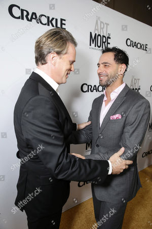 Cary Elwes and Patrick Sabongui seen at Los Angeles Premiere for Crackle's 'The Art of More' at Sony Pictures, in Los Angeles, CA