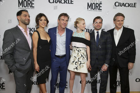 Patrick Sabongui, Cristina Rosato, Dennis Quaid, Kate Bosworth, Christian Cooke and Cary Elwes seen at Los Angeles Premiere for Crackle's 'The Art of More' at Sony Pictures, in Los Angeles, CA