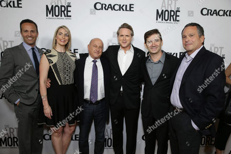 Eric Berger, GM of Crackle, Executive Producer Tamara Chestna, Executive Producer Laurence Mark, Cary Elwes, Creator/Writer/Executive Producer Chuck Rose and Showrunner/Executive Producer Gardner Stern seen at Los Angeles Premiere for Crackle's 'The Art of More' at Sony Pictures, in Los Angeles, CA