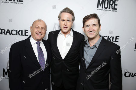Executive Producer Laurence Mark, Cary Elwes and Creator/Writer/Executive Producer Chuck Rose seen at Los Angeles Premiere for Crackle's 'The Art of More' at Sony Pictures, in Los Angeles, CA