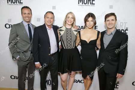 Eric Berger, GM of Crackle, Showrunner/Executive Producer Gardner Stern, Executive Producer Tamara Chestna, Cristina Rosato and Creator/Writer/Executive Producer Chuck Rose seen at Los Angeles Premiere for Crackle's 'The Art of More' at Sony Pictures, in Los Angeles, CA