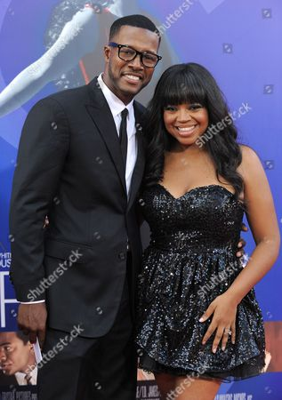 """Flex Alexander and Shanice Wilson attend the Los Angeles premiere of """"Sparkle"""" at Grauman's Chinese Theatre, in Los Angeles"""