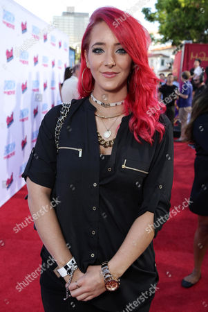 """Jenna Marbles seen at the Los Angeles Premiere of AwesomenessTV and Defy Media's """"SMOSH: THE MOVIE"""" held at Westwood Village Theatre, in Los Angeles"""