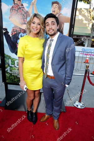 """Stock Photo of Grace Helbig and Chester See seen at the Los Angeles Premiere of AwesomenessTV and Defy Media's """"SMOSH: THE MOVIE"""" held at Westwood Village Theatre, in Los Angeles"""