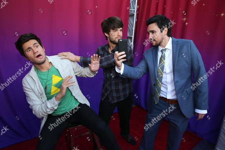 """Chester See seen at the Los Angeles Premiere of AwesomenessTV and Defy Media's """"SMOSH: THE MOVIE"""" held at Westwood Village Theatre, in Los Angeles"""