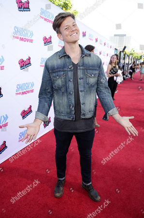 """Tyler Ward seen at the Los Angeles Premiere of AwesomenessTV and Defy Media's """"SMOSH: THE MOVIE"""" held at Westwood Village Theatre, in Los Angeles"""