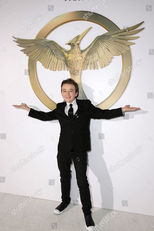 "Benjamin Stockham seen at the Los Angeles Premiere of Lionsgate's ""The Hunger Games: Mockingjay - Part 1"" held at Nokia Theater L.A. Live, in Los Angeles"