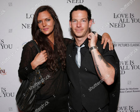 """EXCLUSIVE Sean Brosnan (right) and fiance Sonya Vanick at the premiere Of Sony Picture Classics' """"Love Is All You Need"""", on Thursday, April, 25, 2013 in Hollywood, California"""