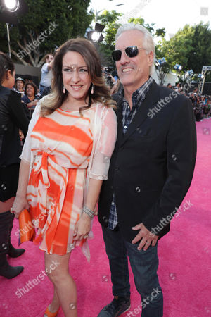 """Joely Fisher and Christopher Duddy seen at Los Angeles Premiere of STX Entertainment """"Bad Moms"""" at Mann Village Theatre, in Los Angeles"""