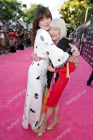 "Kathryn Hahn and Karen Bunker Hahn seen at Los Angeles Premiere of STX Entertainment ""Bad Moms"" at Mann Village Theatre, in Los Angeles"