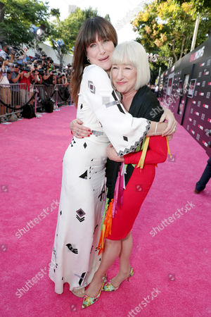 "Stock Picture of Kathryn Hahn and Karen Bunker Hahn seen at Los Angeles Premiere of STX Entertainment ""Bad Moms"" at Mann Village Theatre, in Los Angeles"