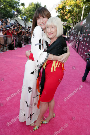 "Kathryn Hahn and Karen Bunker Hahn seen at Los Angeles Premiere of STX Entertainment ""Bad Moms"" at Mann Village Theatre, in Los Angeles"