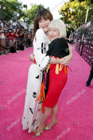 """Stock Picture of Kathryn Hahn and Karen Bunker Hahn seen at Los Angeles Premiere of STX Entertainment """"Bad Moms"""" at Mann Village Theatre, in Los Angeles"""