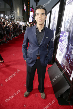 Stock Photo of Octavio Gomez Berrios seen at Los Angeles Premiere of Warner Bros. 'Our Brand is Crisis' at TCL Chinese Theatre, in Los Angeles, CA