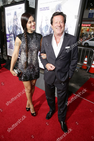 Carla Ortiz and Joaquim de Almeida seen at Los Angeles Premiere of Warner Bros. 'Our Brand is Crisis' at TCL Chinese Theatre, in Los Angeles, CA