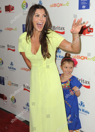 Ali Landry and Estela Ines Monteverde attend the 2nd Annual Red CARpet event at the SLS Hotel on in Beverly Hills, Calif