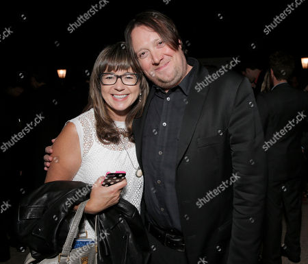 """Maria Machado and Dave Porter attend a reception for """"SCORE! A Concert Celebrating Music Composed for Television"""" presented by the Television Academy at UCLA's Royce Hall, in Los Angeles"""
