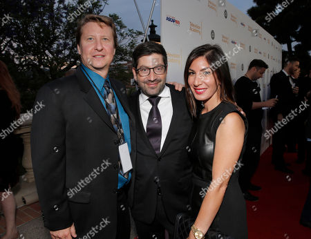 "ASCAP's Shawn LeMone, James S. Levine and Suzanne Levine attend a reception for ""SCORE! A Concert Celebrating Music Composed for Television"" presented by the Television Academy at UCLA's Royce Hall, in Los Angeles"