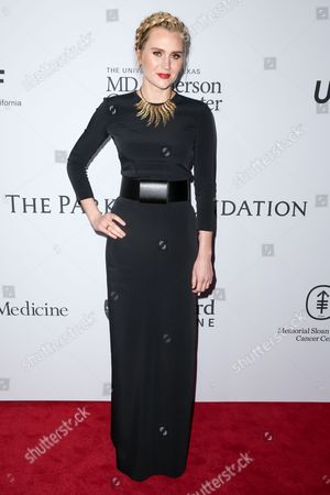 Laura Kirkpatrick arrives at Sean Parker and the Parker Foundation's Gala Celebrating a Milestone in Medical Research, in Los Angeles