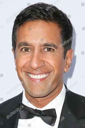 Sanjay Gupta arrives at Sean Parker and the Parker Foundation's Gala Celebrating a Milestone in Medical Research, in Los Angeles