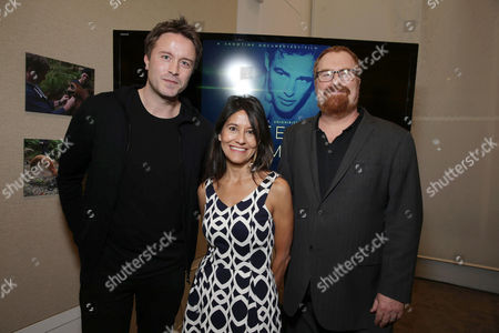 Exclusive - Director/Writer Stevan Riley, Rebecca Brando and Producer R.J. Cutler seen at Showtime Documentary films special screening of 'Listen to me Marlon' at The Paley Center for Media, in Los Angeles, CA