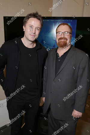 Exclusive - Director/Writer Stevan Riley and Producer R.J. Cutler seen at Showtime Documentary films special screening of 'Listen to me Marlon' at The Paley Center for Media, in Los Angeles, CA