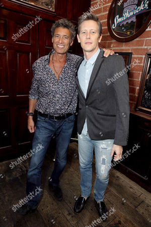 "Steven Bauer and Gabriel Mann seen at Showtime Drama Series ""Ray Donovan"" Premiere Night Viewing Party at O'Brien's Irish Pub & Restaurant, in Santa Monica, Calif"
