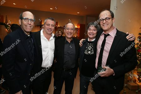 PREMIUM RATES APPLY Matthew C. Blank (Showtime Chairman and Chief Executive Officer ), Matt LeBlanc, David Crane and Jeffrey Klarik, David Nevins (Showtime President of Entertainment) seen at Showtime's Holiday Soiree, on in Los Angeles