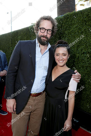 Peter Cambor and Keisha Castle-Hughes seen at Showtime's Annual Summer Soiree at 2016 TCA at the Pacific Design Center, in West Hollywood, Calif