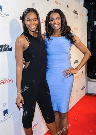 Damaris Lewis and Swin Cash attend Sports Illustrated's Fashionable 50 NYC Event at Vandal, in New York