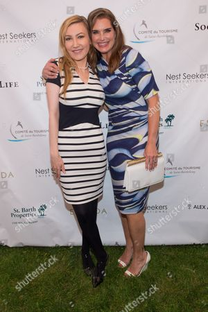 Stock Picture of Brooke Shields and Devorah Rose attend the 3rd Annual St. Barth Hamptons Gala presented by Social Life Magazine and St. Barth Tourism in Bridgehampton on in New York