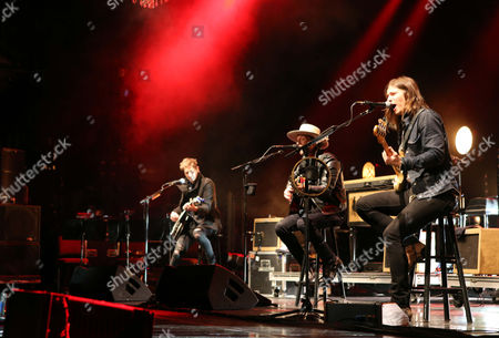 Bear Rinehart, Bo Rinehart, Seth Bolt and Josh Lovelace with NEEDTOBREATHE performs during the Star 94 Jingle Jam 2015 at the Fox Theatre, in Atlanta